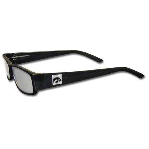 Iowa Hawkeyes Black Reading Glasses +2.25