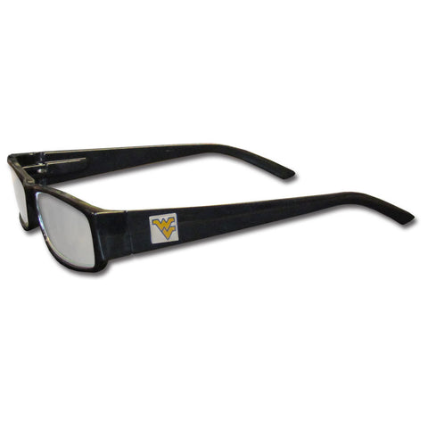 W. Virginia Mountaineers Black Reading Glasses +2.50
