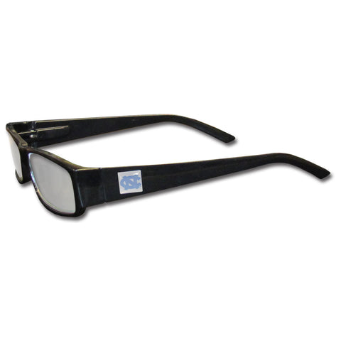 N. Carolina Tar Heels Black Reading Glasses +2.50