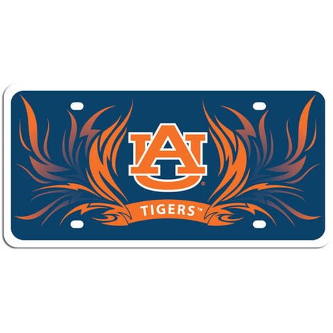 Auburn Tigers Styrene License Plate