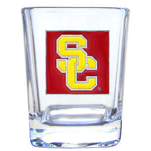 College 2 oz Glass - USC Trojans