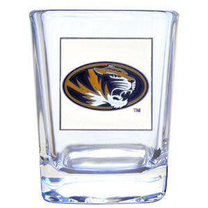 College 2 oz Glass - Missouri Tigers