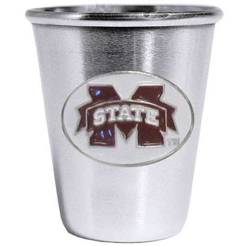 Mississippi St. Bulldogs Steel Shot Glass