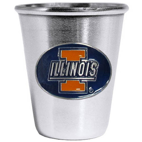 Illinois Fighting Illini Steel Shot Glass