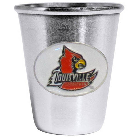 Louisville Cardinals Steel Shot Glass
