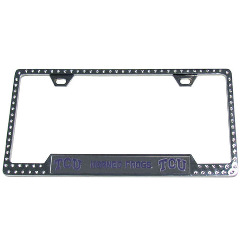 TCU Horned Frogs Bling Tag Frame