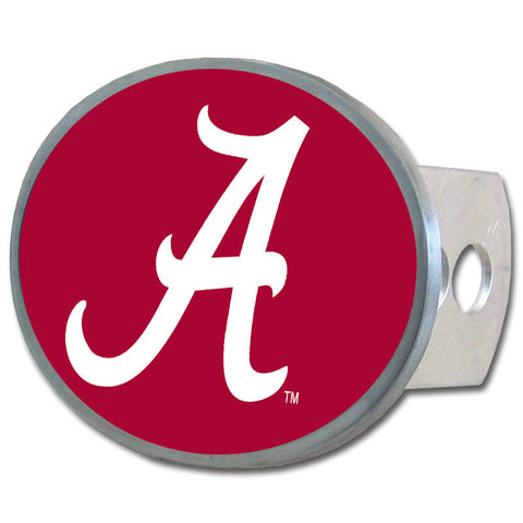 Alabama Crimson Tide Oval Metal Hitch Cover Class II and III