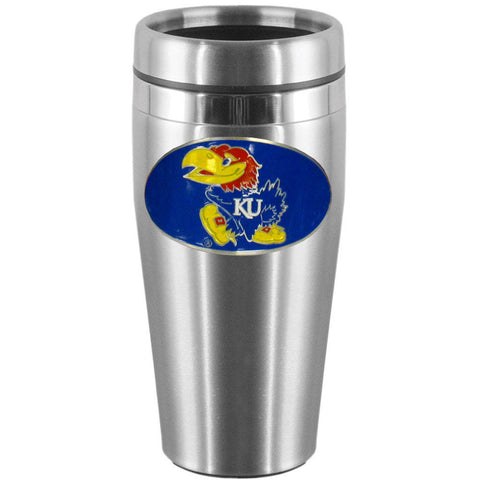 Kansas Jayhawks Steel Travel Mug
