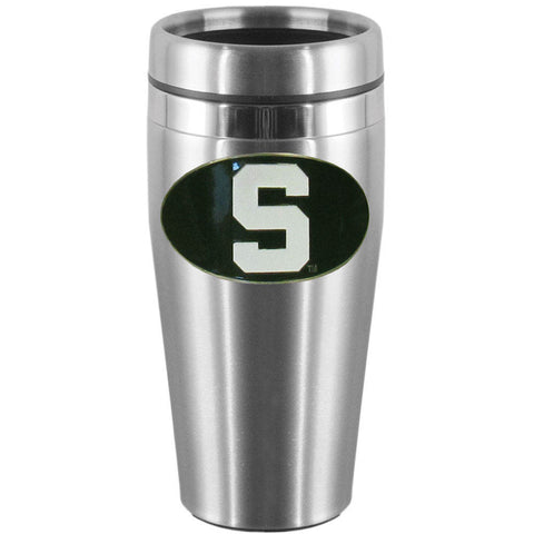 Michigan St. Spartans Steel Travel Mug