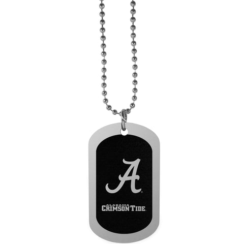 Alabama Crimson Tide Chrome Tag Necklace