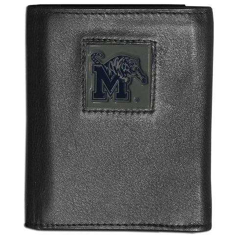 Memphis Tigers Deluxe Leather Tri-fold Wallet
