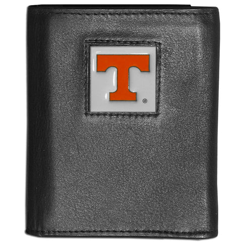 Tennessee Volunteers Deluxe Leather Tri-fold Wallet Packaged in Gift Box