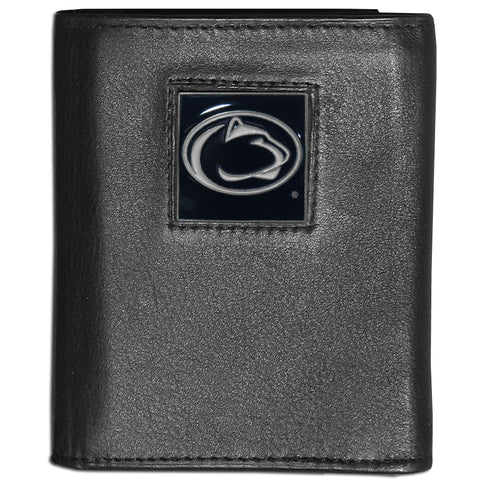 Penn St. Nittany Lions Deluxe Leather Tri-fold Wallet
