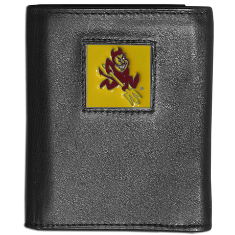 Arizona St. Sun Devils Deluxe Leather Tri-fold Wallet