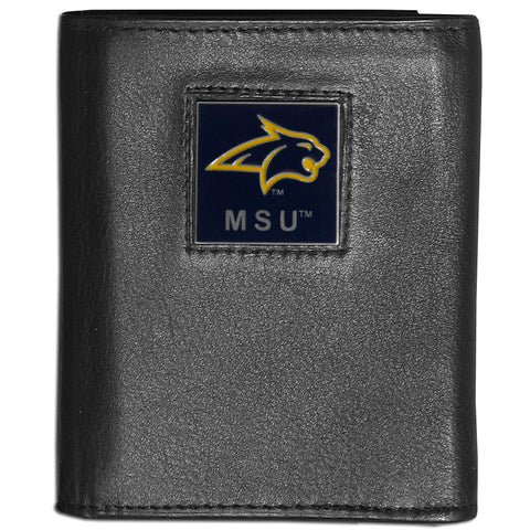 Montana St. Bobcats Deluxe Leather Tri-fold Wallet