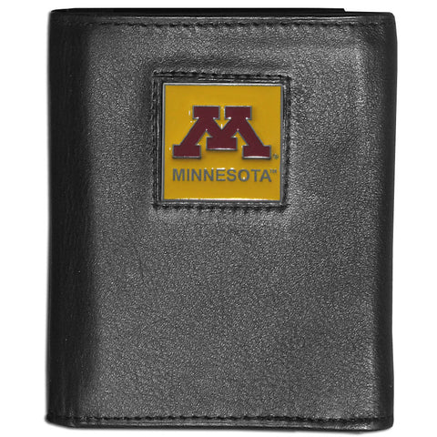 Minnesota Golden Gophers Deluxe Leather Tri-fold Wallet