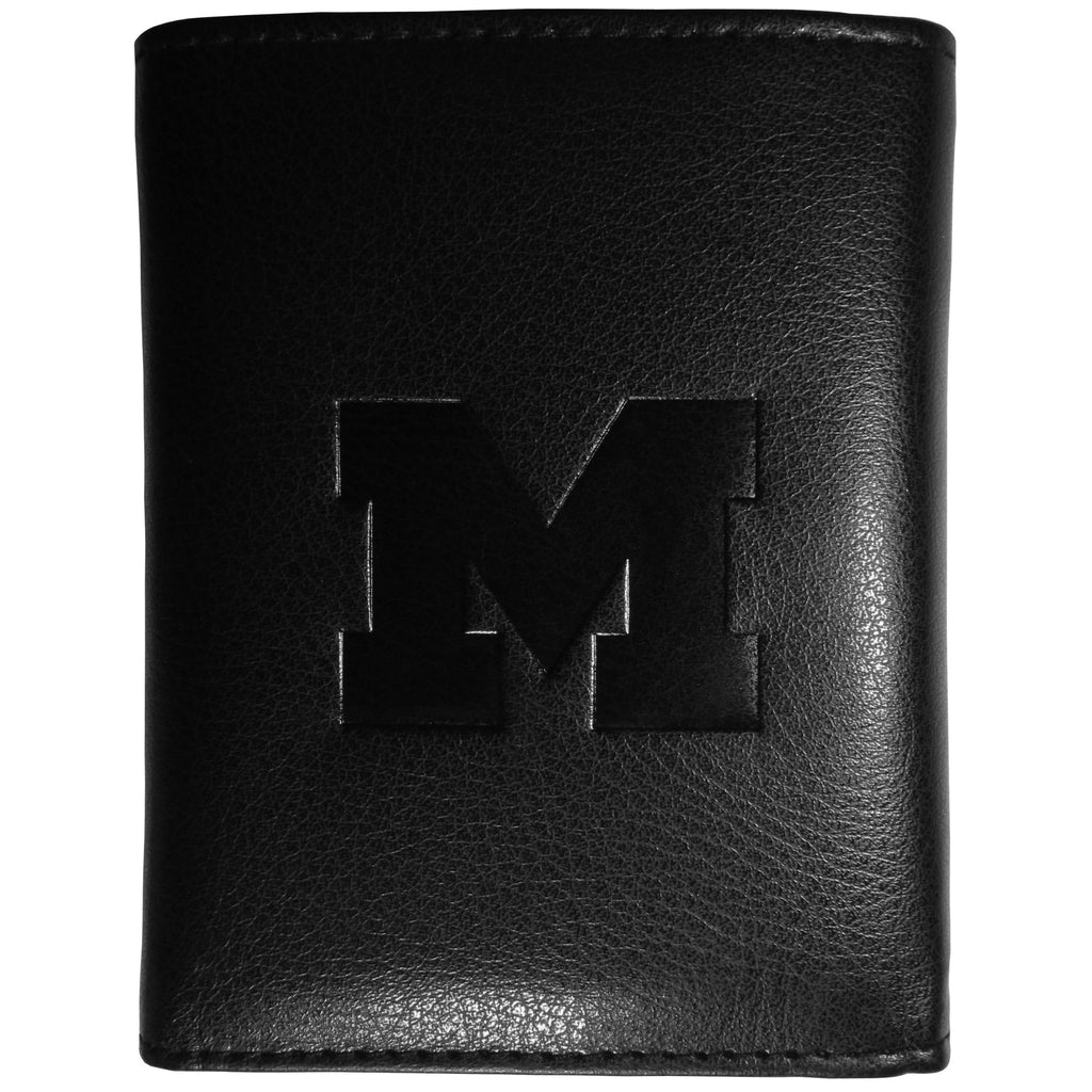 Michigan Wolverines Embossed Tri-fold Wallet