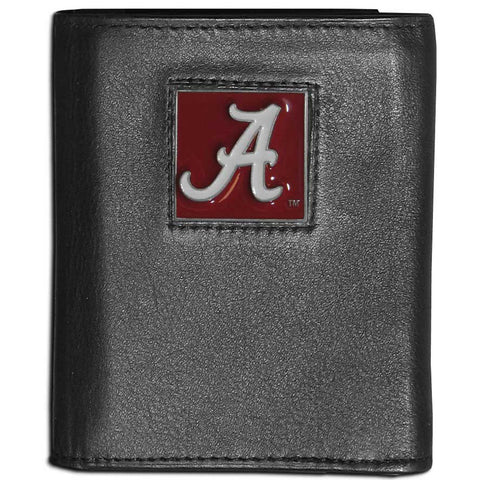 Alabama Crimson Tide Leather Tri-fold Wallet