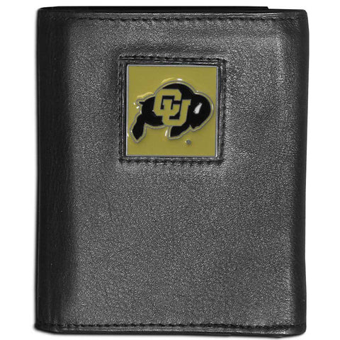 Colorado Buffaloes Leather Tri-fold Wallet