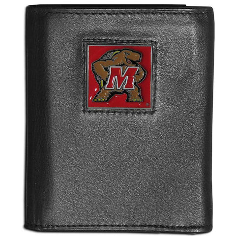 Maryland Terrapins Leather Tri-fold Wallet