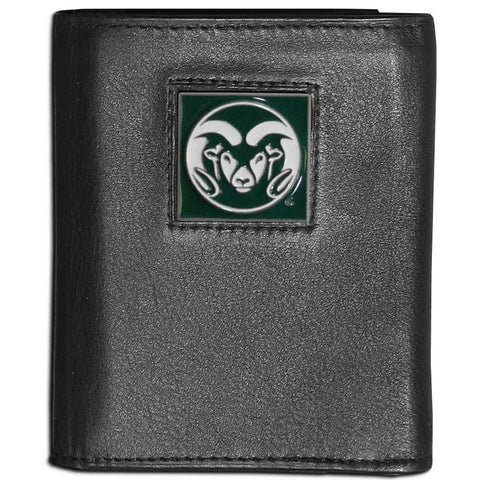 Colorado St. Rams Leather Tri-fold Wallet
