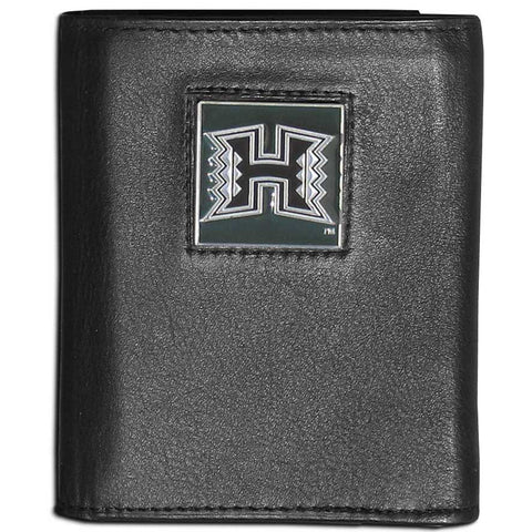 Hawaii Warriors Leather Tri-fold Wallet