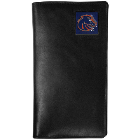 Boise St. Broncos Leather Tall Wallet