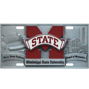 Mississippi St. Bulldogs Collector's License Plate