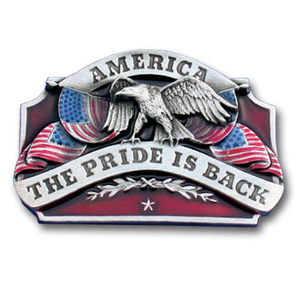 American Pride is Back Enameled Belt Buckle