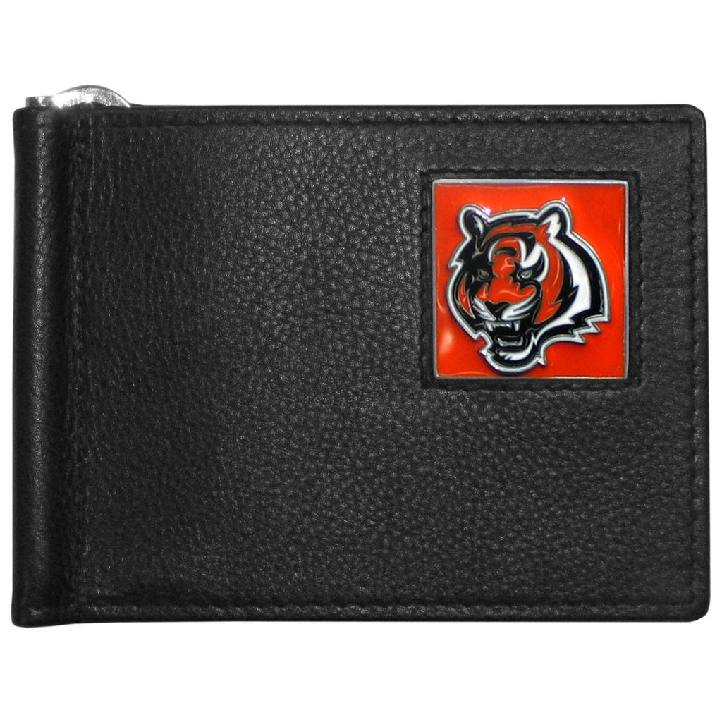 Cincinnati Bengals Leather Bill Clip Wallet