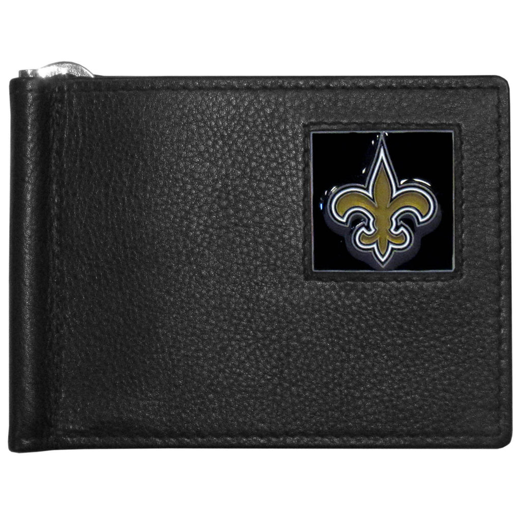 New Orleans Saints Leather Bill Clip Wallet