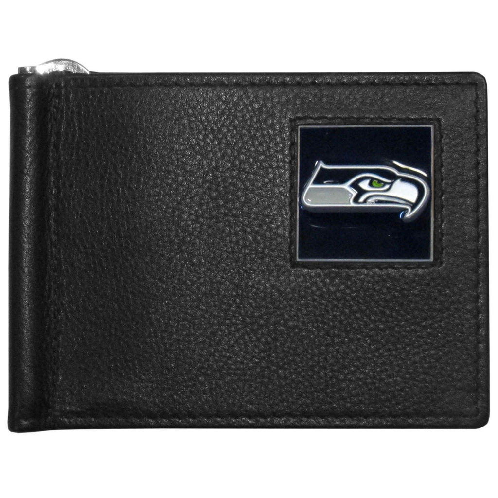 Seattle Seahawks Leather Bill Clip Wallet