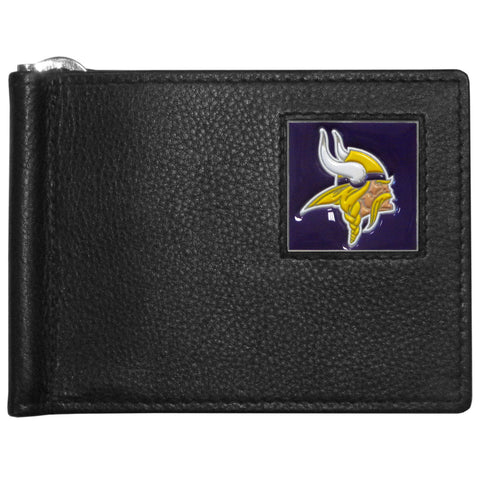 Minnesota Vikings Leather Bill Clip Wallet