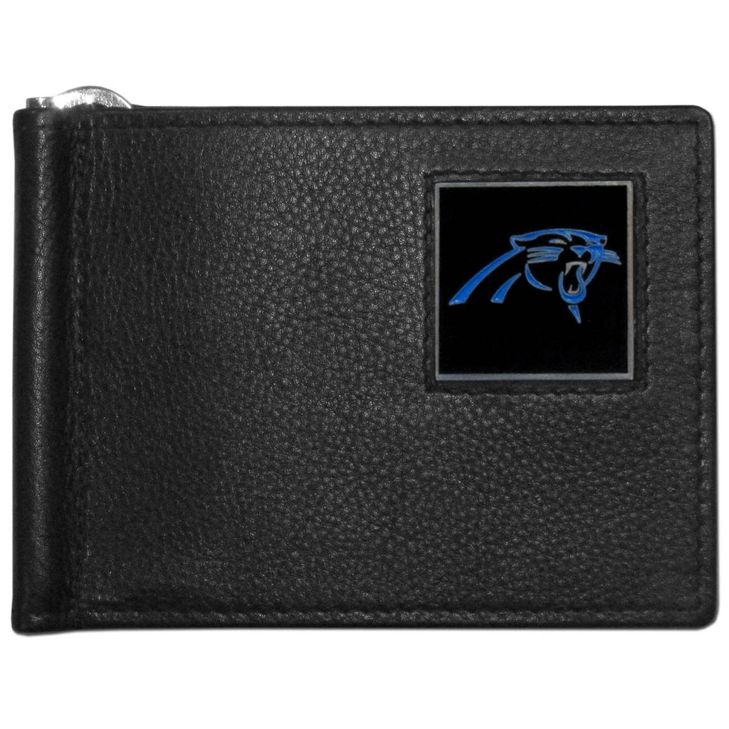 Carolina Panthers Leather Bill Clip Wallet