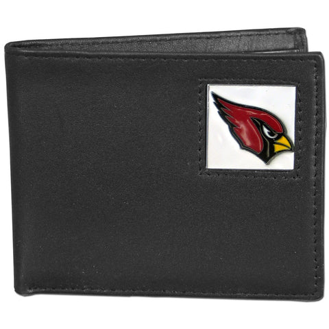 Arizona Cardinals Leather Bi-fold Wallet Packaged in Gift Box