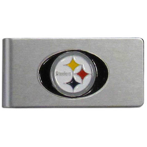 Pittsburgh Steelers Brushed Metal Money Clip