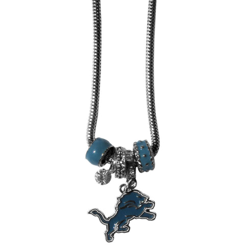 Detroit Lions Euro Bead Necklace