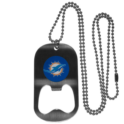 Miami Dolphins Bottle Opener Tag Necklace