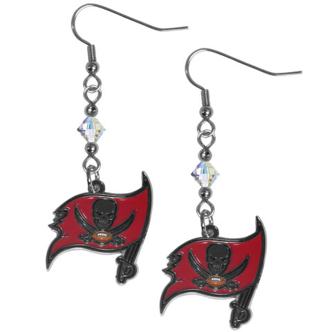 Tampa Bay Buccaneers Crystal Dangle Earrings
