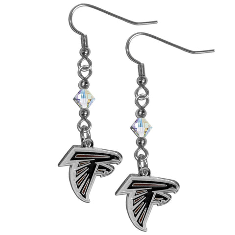 Atlanta Falcons Crystal Dangle Earrings