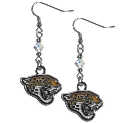 Jacksonville Jaguars Crystal Dangle Earrings