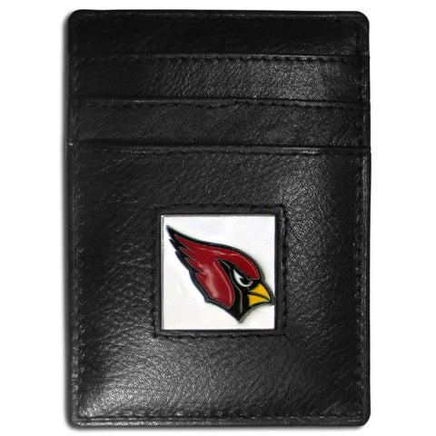 Arizona Cardinals Leather Money Clip/Cardholder Packaged in Gift Box
