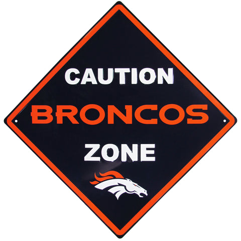 Denver Broncos Caution Wall Sign Plaque