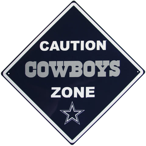 Dallas Cowboys Caution Wall Sign Plaque
