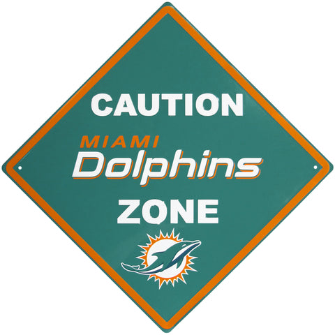 Miami Dolphins Caution Wall Sign Plaque