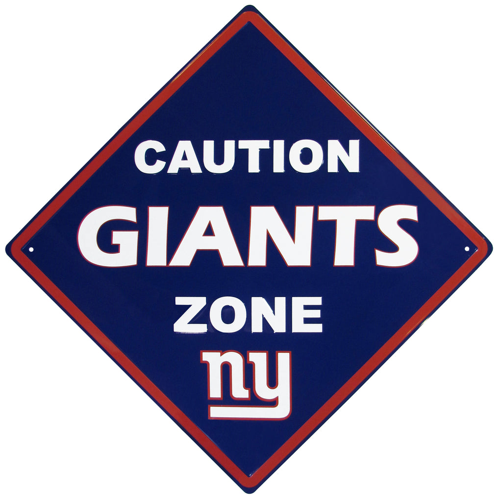 New York Giants Caution Wall Sign Plaque