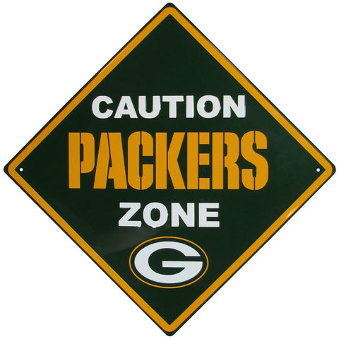 Green Bay Packers Caution Wall Sign Plaque