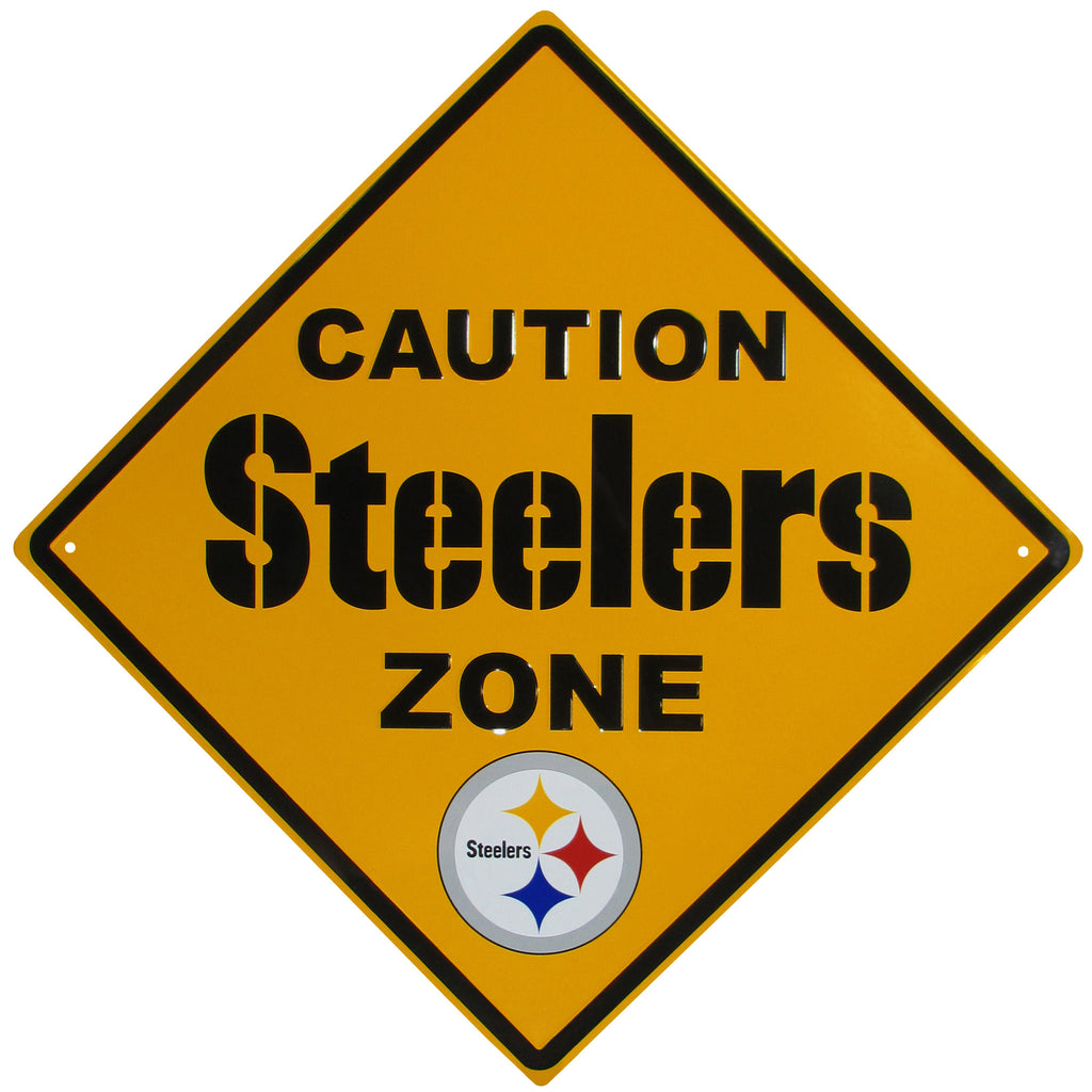 Pittsburgh Steelers Caution Wall Sign Plaque