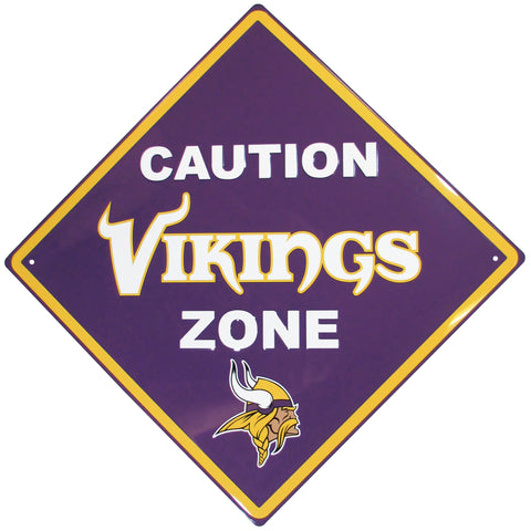 Minnesota Vikings Caution Wall Sign Plaque