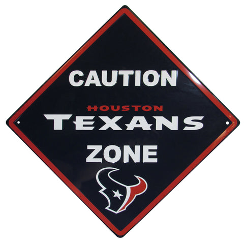 Houston Texans Caution Wall Sign Plaque